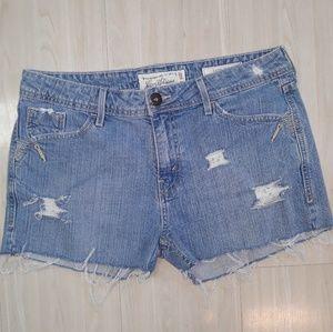Levi's distressed cut off jean shorts